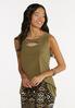 Plus Size Dressy Cutout Tank alt view