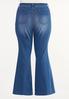 Plus Size Raw Edge Flare Jeans alternate view