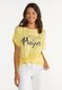 Plus Size Fueled By Prayer Tee alt view