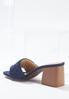 Denim Heeled Slide Sandals alternate view