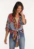 Plus Size Patchwork Kimono alt view