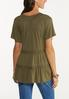 Plus Size Olive Tiered Top alternate view