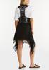 Plus Size Black Crochet Vest alternate view