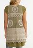 Plus Size Crochet Vest alternate view