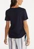 Cutout Ruched Sleeve Tee alternate view