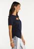 Plus Size Cutout Ruched Sleeve Tee alt view