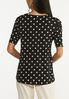 Plus Size Dotted Criss Cross Top alternate view