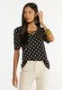 Plus Size Dotted Criss Cross Top alt view