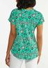 Plus Size Green Floral Top alternate view