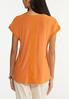 Plus Size Button Sleeve Top alternate view