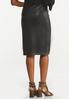 Plus Size Belted Faux Leather Skirt alternate view