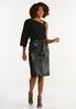Plus Size Belted Faux Leather Skirt alt view