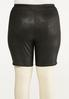 Plus Size Coated Biker Shorts alternate view