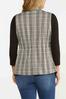 Plus Size Drawstring Plaid Vest alternate view