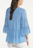 Plus Size Tiered Blue Poet Top alternate view