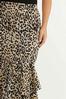 Flounced Leopard Skirt alt view