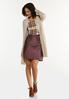 Faux Suede Leather Mini Skirt alt view