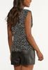 Plus Size Dotted Shoulder Pad Tank alternate view