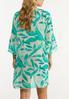Plus Size Tropical Tie Front Kimono alternate view