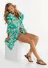 Plus Size Tropical Tie Front Kimono alt view