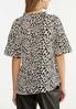 Plus Size Leopard Tiered Sleeve Top alternate view
