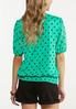 Dotted Smocked Top alternate view