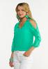 Plus Size Ruffled Sleeve Top alt view