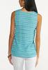 Plus Size Solid Frayed Tank alternate view
