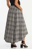 Plus Size Plaid High- Low Maxi Skirt alternate view