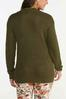 Plus Size Olive Cutout Sweater alternate view