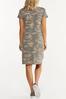 Plus Size Twisted Camo Dress alternate view