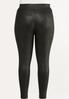 Plus Size Solid Coated Leggings alternate view