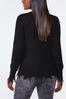 Plus Size Distressed V- Neck Sweater alternate view
