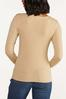 Plus Size Ribbed V- Neck Sweater alternate view