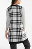 Plus Size Houndstooth Sweater Vest alternate view