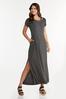 Plus Size Cutout Tee Shirt Maxi Dress alt view