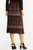 Plus Size Plaid Sweater Midi Skirt alternate view