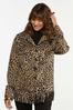 Plus Size Leopard Fringe Shacket alt view