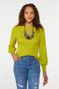 Plus Size Cutout Ribbed Sweater alt view