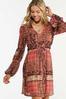 Plus Size Patchwork Medallion Babydoll Dress alt view