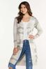 Plus Size Camo Cardigan Sweater alt view