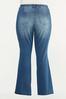 Plus Size Bootcut Raw Hem Jeans alternate view