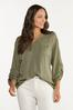 Plus Size Olive High- Low Tunic alt view