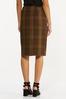 Plus Size Plaid Faux Wrap Pencil Skirt alternate view