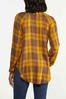 Plus Size Gold Plaid Tunic alternate view