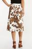 Plus Size Cow Print Midi Skirt alternate view