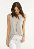 Cutout Ribbed Tunic alt view