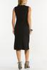 Plus Size Black Ribbed Midi Dress alternate view