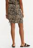 Plus Size Leopard Drawstring Skirt alternate view