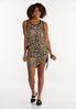 Plus Size Leopard Drawstring Skirt alt view